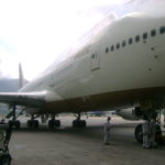 Commercial Airplane Being Serviced