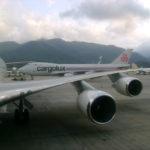 Cargolux Airplanes in Runway