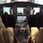 F900EX Flight Deck Cockpit of Airplane