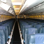 Interior Cabin of Commercial Airplane